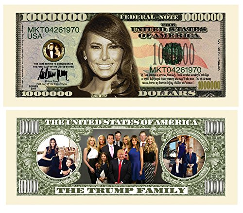 set-of-5-melania-trump-first-lady-first-family-million-dollar-bill