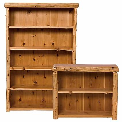 Large Cedar Bookshelf Real Wood Western Lodge Rustic Cabin