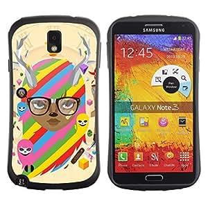 Hybrid Anti-Shock Bumper Case for Samsung Galaxy Note 3 / Cool & Cute Fantasy