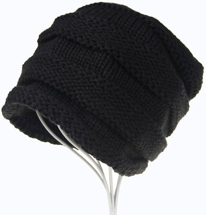 d4d53a59668 iYBUIA Winter Men Women Baggy Warm Crochet Wool Knit Ski Beanie Skull  Slouchy Caps Hat