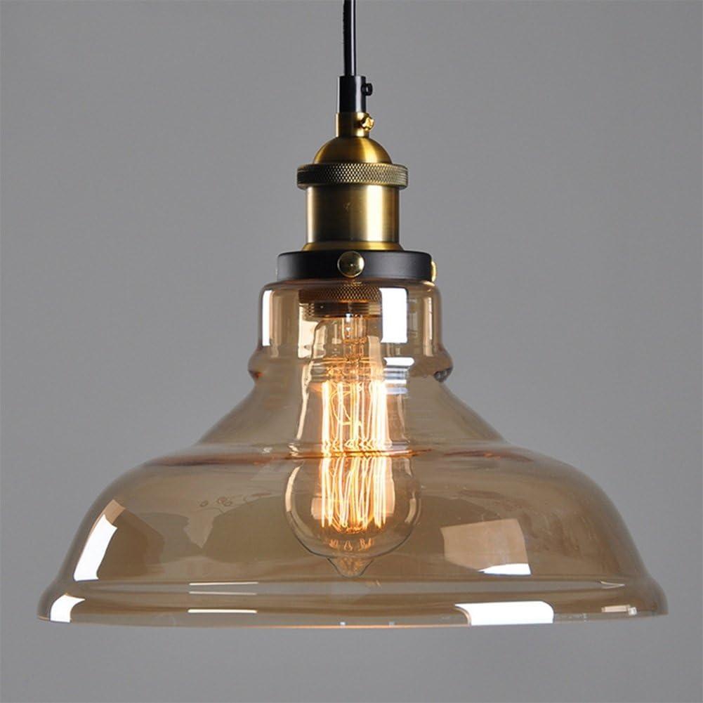 Techo transparente araña de lámpara de techo de sombra cortina de cristal araña de reequipamiento lámpara de techo Vintage Retro techo industriales Lámpara de techo E27 Línea colgante 1.5 m (ajustable): Amazon.es: