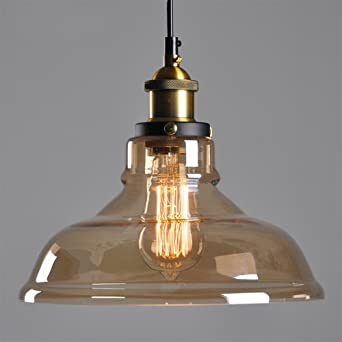 Amber glass shade ceiling chandelier fitting vintage retro pendant amber glass shade ceiling chandelier fitting vintage retro pendant lamp shade e27 screw lamp base mozeypictures Gallery