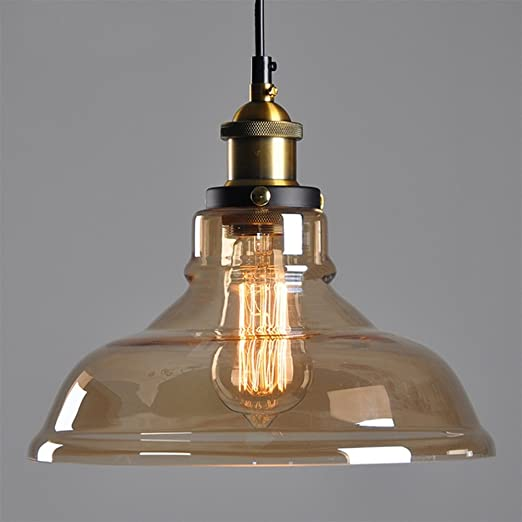 Amber glass shade ceiling chandelier fitting vintage retro pendant amber glass shade ceiling chandelier fitting vintage retro pendant lamp shade e27 screw lamp base mozeypictures Choice Image