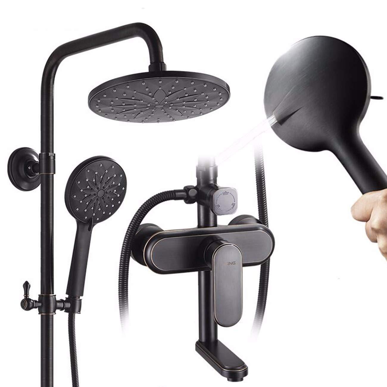 ZPSPZ-Duschsysteme Badezimmer Dusche Wasserhahn Set Dusche Der Kupfer - Dusche Schwarze Antiken Bad Bad