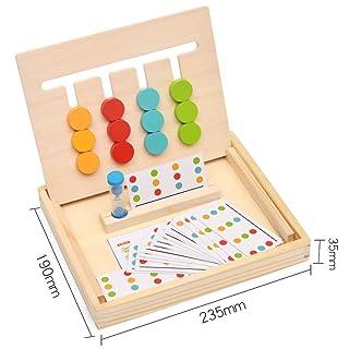Toy*dfgh ☀ MG Wisdom Labyrinth Puzzle a Quattro Colori Puzzle Tridimensionale in Legno precoce 0422