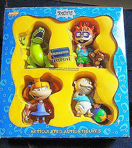 Set Shipping Free Gift Tommy (1997 Vintage Blockbuster Exclusive Limited Edition Rugrats Articulated Action Figures Set-Very Rare)