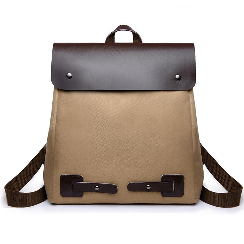Aobiny Backpack Ladies' Vintage Patchwork Canvas Backpack With Two Shoulders (Brown)