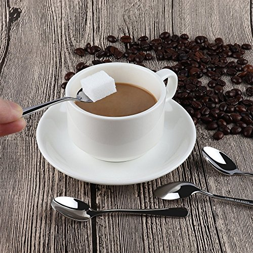 FAZA Demitasse Espresso Spoons,Mini Coffee Spoons,4.7 inches Stainless Steel Spoons Dessert Spoons Bistro Small Spoons Appetizer Spoons-8pcs by FAZA (Image #4)