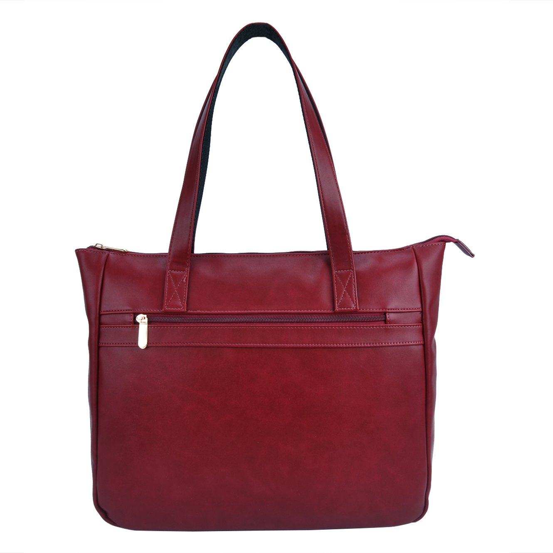 Laptop Bag,15 Inch Business Work School Laptop Tote Bag,Casual Computer Bags for Women Shoulder Bag (WineRed)