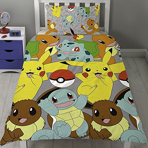 Pokémon Catch Twin Rotary Duvet Cover and Pillowcase Set