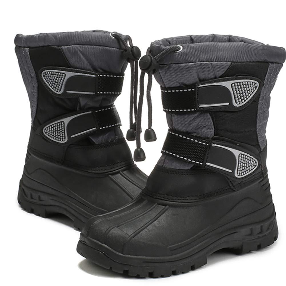 LGXH Little Kids Snow Boots Soft Slip-On Comfort Casual Boys Girls Plus Cotton Winter Warm Booties Shoe