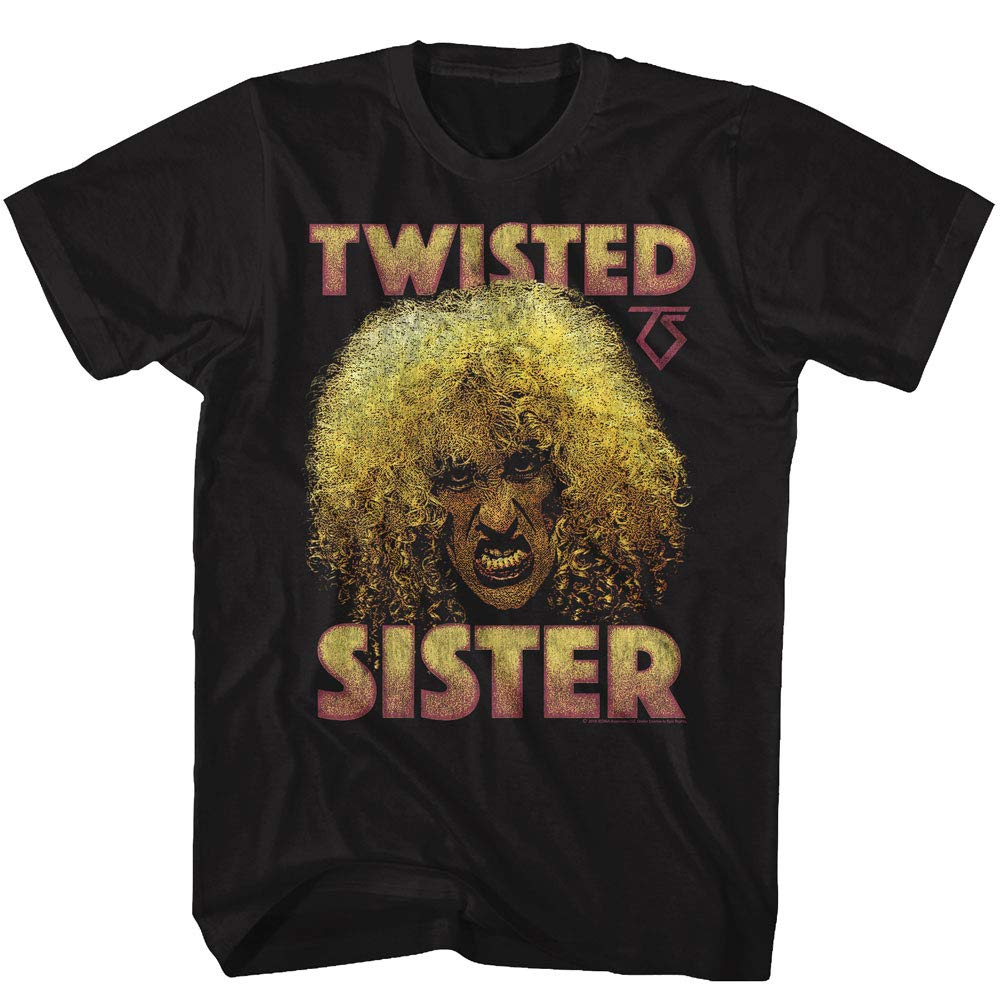 Twisted Sister Heavy Metal Band Big Curly Hair Dee Snider Adult T Shirt Tee