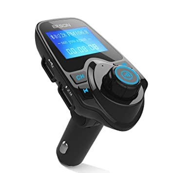 Transmisor de radio FM, Inalámbrico Bluetooth coche MP3 reproductor transmisor de Radio FM Kit de coche, ...