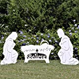 Teak Isle Believe Holy Family Outdoor Nativity Set