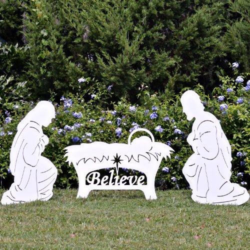 Teak Isle Believe Holy Family Outdoor Nativity Set