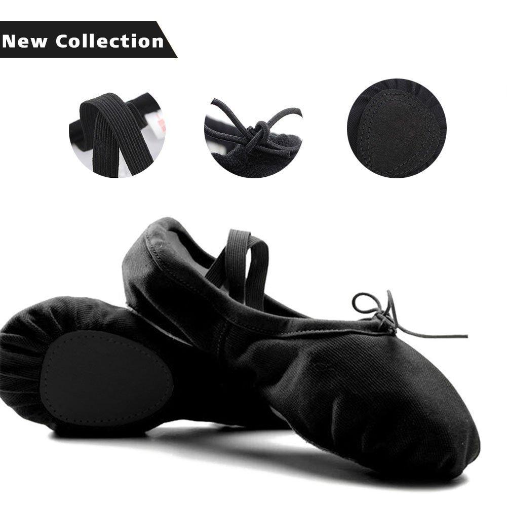 Ballet Shoes Canvas Ballet Slipper Yoga Dance Shoe Ballet Flats for Girls Women