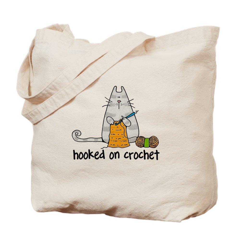 irmapetty Hooked on Crochet II – ナチュラルキャンバストートバッグ、布ショッピングバッグ B07C8FMY8K