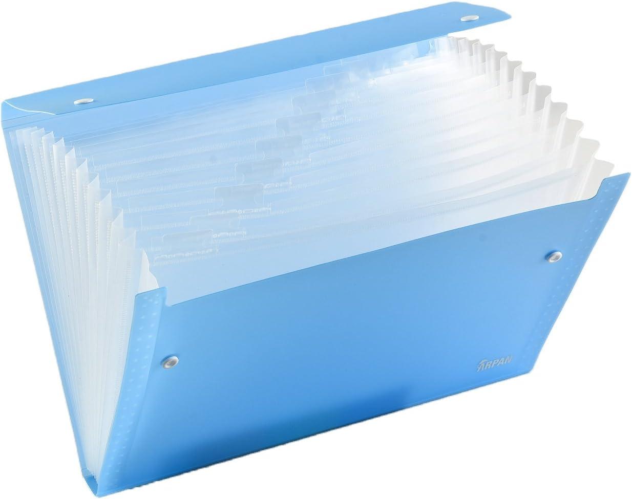 Clear 13 Gusset Pocket Folder Multi Section Folder A4 Expanding File Folder