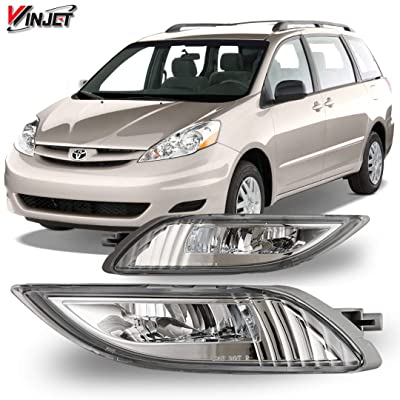Winjet OEM Series for [2006 2007 2008 2009 2010 Toyota Sienna] Driving LED Fog Lights + Switch + Wiring Kit: Automotive