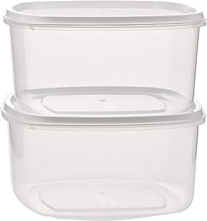 Fiambrera Plasticforte Transparente Tapa Color 2 Litros Pack 2 Unidades: Amazon.es: Hogar