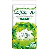 エリエール トイレットペーパー リーフプリント 25m×12ロール ダブル パルプ100% 爽やかなグリーンの香り