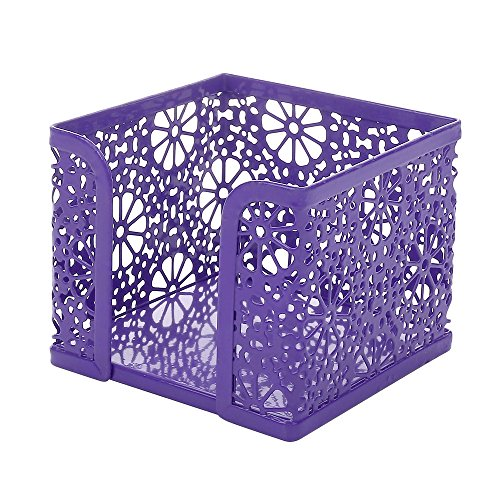 Crystallove Metal Mesh Office Supplies Desk Organizer, Purple-Style 2, Set of 3 by Crystallove (Image #4)