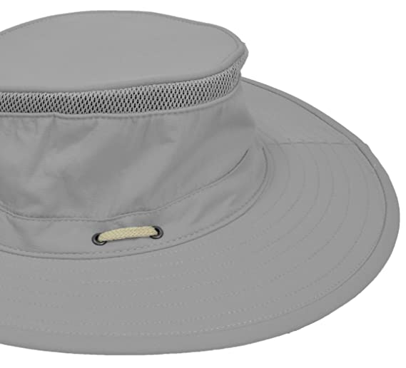 24d9940ebe0 Amazon.com   Unisex Wide Brim Boonie Bucket Sun Hat Outdoor Fishing Boating  Safari Hat with Adjustable Drawstring for Small Head Grey   Sports    Outdoors