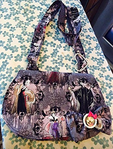 Disney Villains Small Crossbody Messenger Bag with adjustable strap and snap closure disneybound bag with matching hair bow