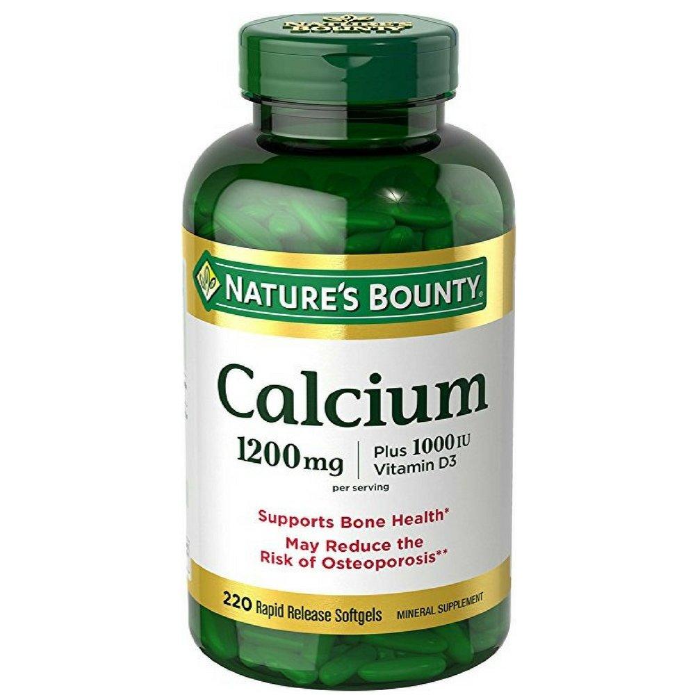 Nature's Bounty Absorbable Calcium 1200mg Plus 1000IU Vitamin D3, Softgels 220 ea