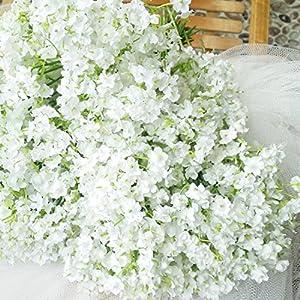 Grade-A Silk Artificial Baby Breath Gypsophila Flower Wedding Home Decor Gift (10pcs) 25