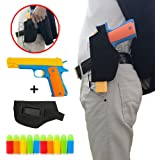 Classic Foam Play Toy Gun Colt 1911 Toy Gun With Tactical Holster and Colorful Soft Bullets,Real Dimensions,Fun Outdoor Game (yellow)