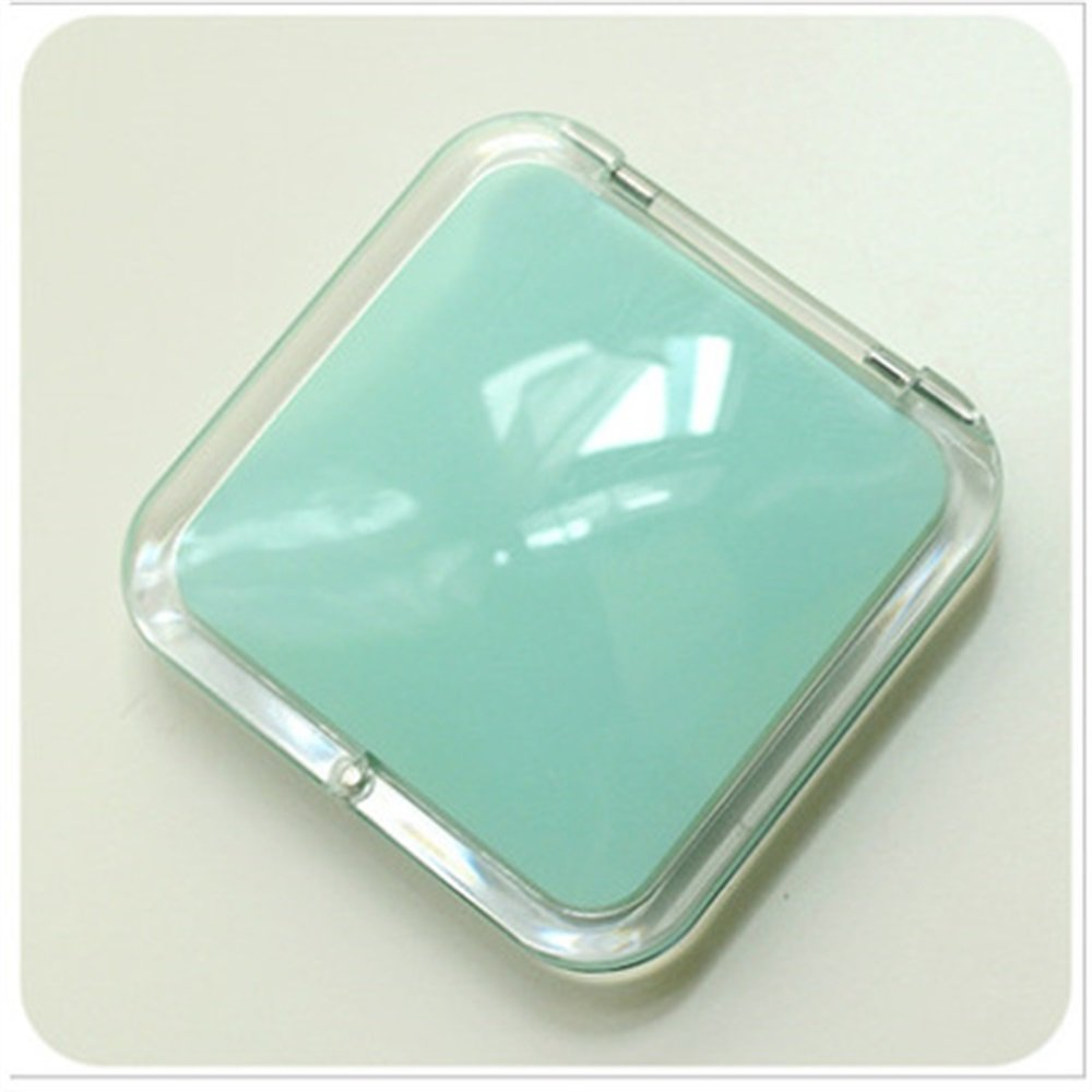 Childrens Mirror Mini Square Simple Candy Small Glass Mirrors Circles for Crafts Decoration Cosmetic Accessory Lake Blue