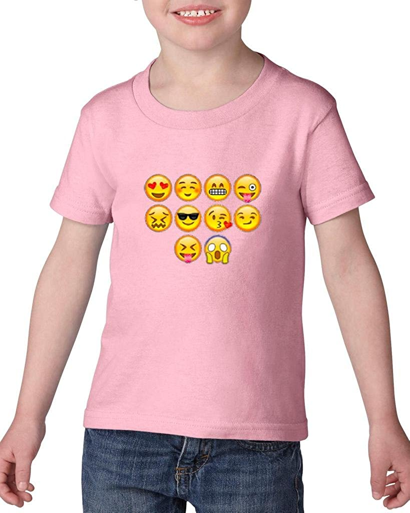 Xekia Emoji Entourage Heavy Cotton Toddler Kids T-Shirt Tee Clothing
