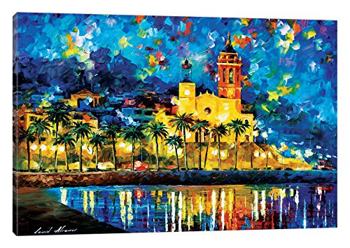 iCanvasART Spain, Sitges Canvas Print by Leonid Afremov, 26'' x 18'' by iCanvasART