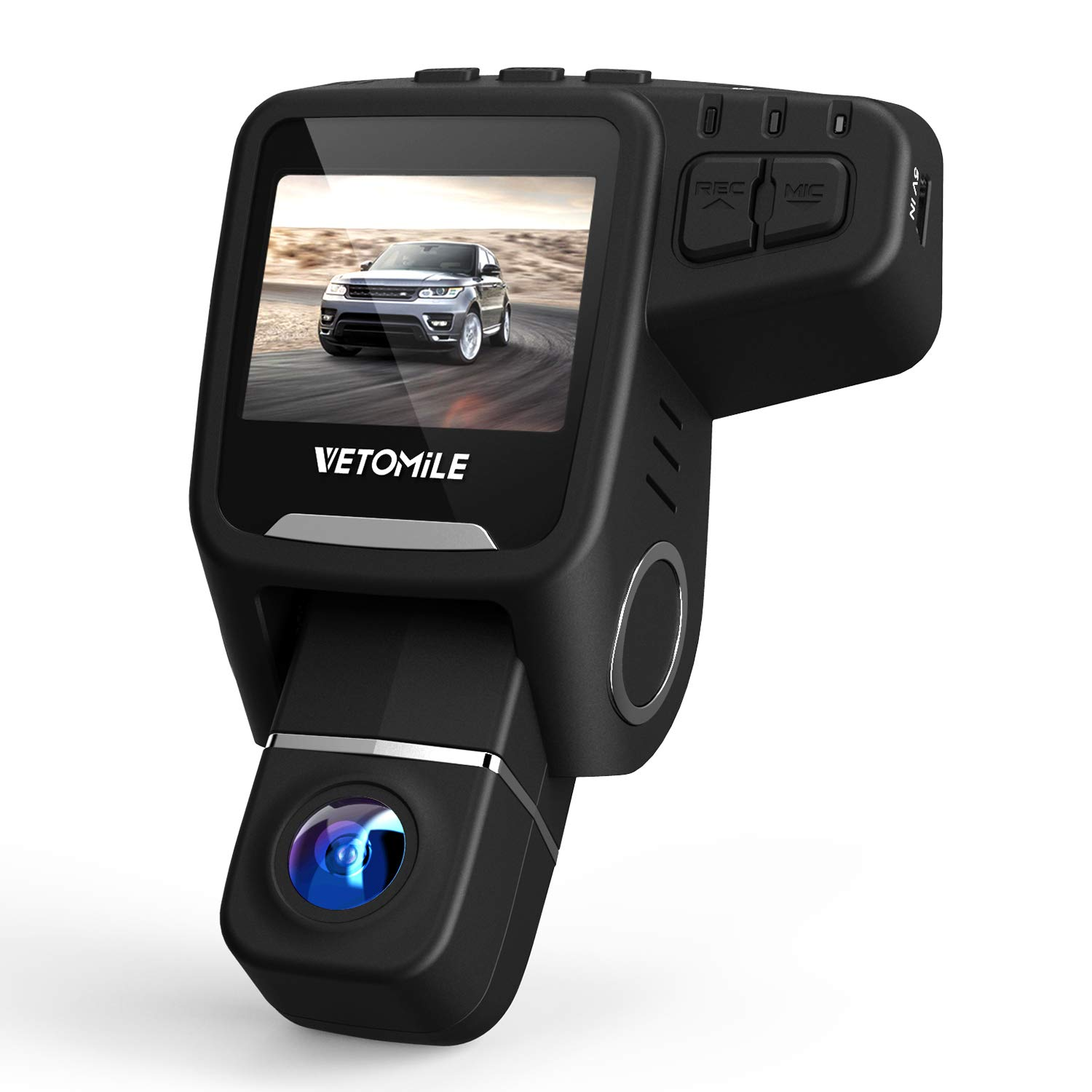 VETOMILE V2 Car Dash Cam 2.5K HD 1440P 30fps Car Dashboard Camera Driving Recorder 170° Wide Angle with Built-in WIFI, GPS, Parking Mode, Super Night Vision, Loop Recording