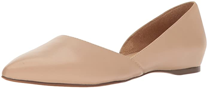 Naturalizer Womens Samantha Pointed Toe Flat, Taupe, 12 W ...