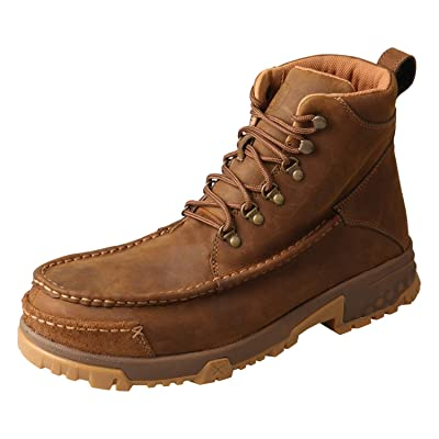 Twisted X Men's 6-Inch Composite D Toe Lace-Up Work Boots - Distressed Saddle | Industrial & Construction Boots