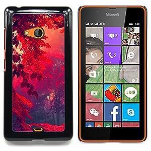 "Qstar Arte & diseño plástico duro Fundas Cover Cubre Hard Case Cover para Nokia Lumia 540 (Red Forrest"")"