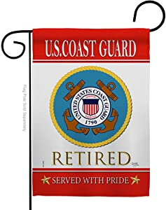 Breeze Decor US Coast Guard Garden Flag Armed Forces USCG Semper Paratus United State American Military Veteran Retire Official House Banner Small Yard Gift Double-Sided, Made in USA