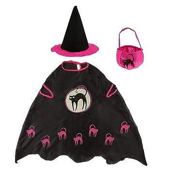 Magideal Halloween Hexe Zauberer Umhang Karneval Fasching Zauberer