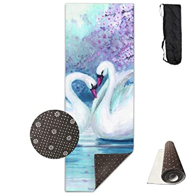 Amazon.com: Watercolor Landscape - Alfombrilla de yoga con ...