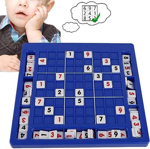 YKJL Juego de Mesa Sudoku Chess Dígitos 1 a 9 Juegos de Escritorio Juguetes educativos Juegos de Mesa Familiares Niños Adultos- A: Amazon.es: Hogar