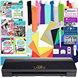 Silhouette Black Cameo 3 Bluetooth Starter Bundle with 12-12x12 Oracal 651 Sheets, 12-12x15 Siser Easyweed Heat Transfer Sheets, Online Class, and More