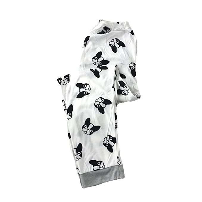 daf03bd809 Image Unavailable. Image not available for. Color  Fashion Culture Women s  Boston Terrier Dog Print Pajama Lounge Pants ...