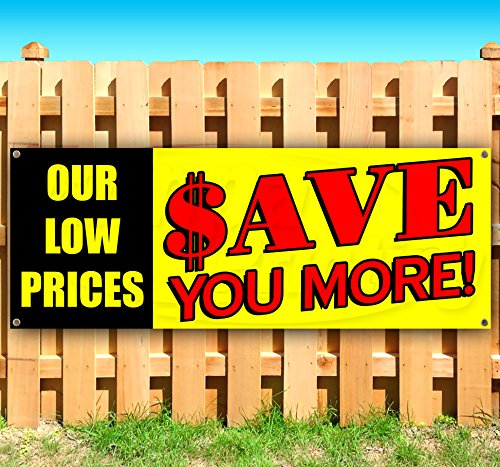 OUR LOW PRICES $AVE YOU MORE 13 oz heavy duty vinyl banner sign with metal grommets, new, store, advertising, flag, (many sizes - Ave Tampa