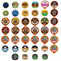 Custom Variety Pack Decaf Coffee Single Serve Cups for The Keurig K Cups 1.0 and 2.0 Brewer, 40 Count by Custom Variety Pack