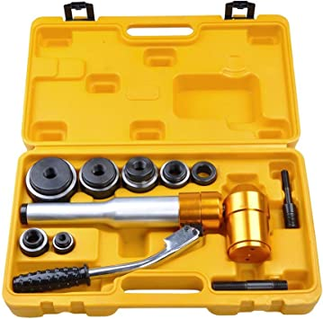 Hydraulic Knockout Puncher Manual Hole Punch Kits 6 Ton 6 Die Set W// Case
