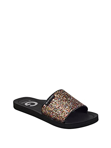 G by GUESS Tomie Glitter One Band Slide Shoe OJn3SMfcWI