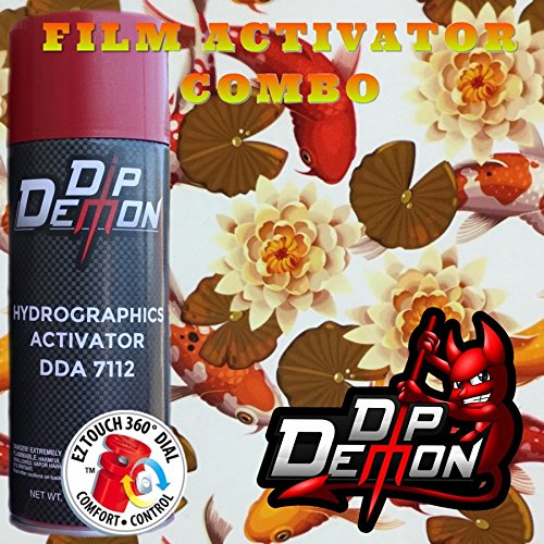 16 Ounce Koi - Combo Kit Koi Pond Hydrographic Water Transfer Film Activator Combo Kit Hydro Dipping Dip Demon