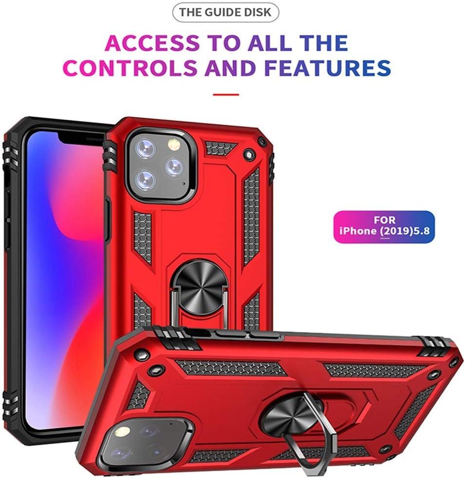 Coque iPhone 11 Pro Étui Hybride Élégant Antichoc TPU avec Support à Anneau pour iPhone 11 Pro
